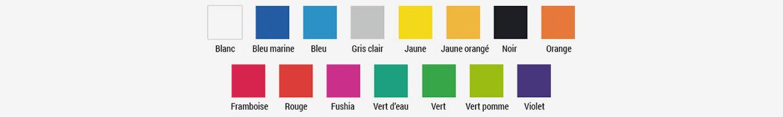 15 couleurs lettre et logo plexi