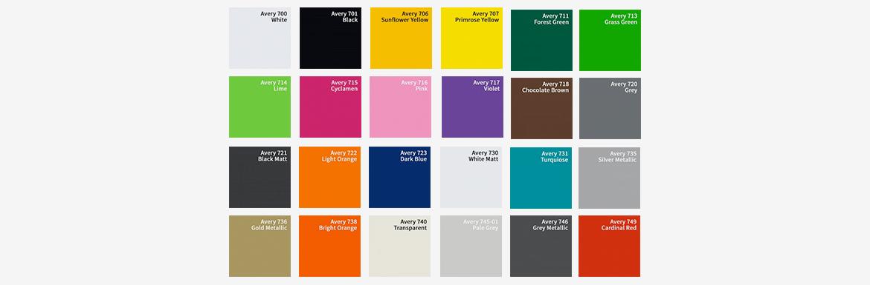 30 couleurs lettre logo vinyle
