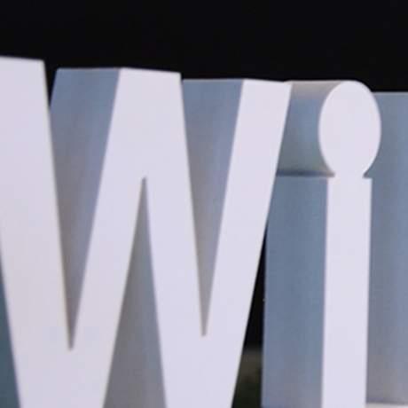 Lettre et logo 3D en relief PVC blanc