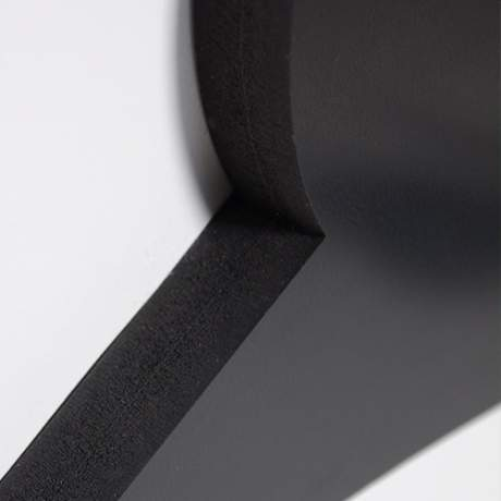 Logo double support PVC noir mat