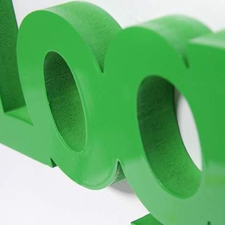 Lettre et logo 3D en relief PVC teinté couleur