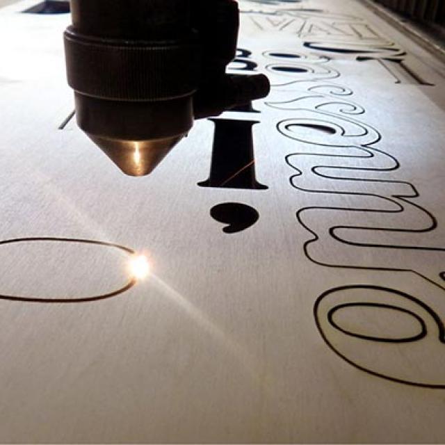 Atelier logo végétal lettres relief 3D - 7