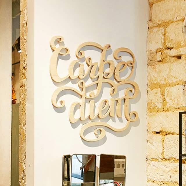 Logo Bois 3D fixation mur