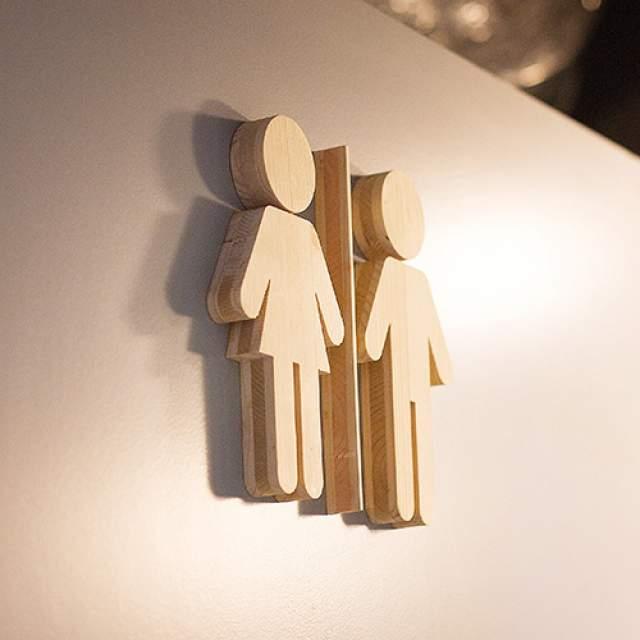 Signalétique intérieure Logo Bois 3D